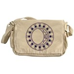 The Silver Spiral Messenger Bag