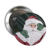 Santa Peeking In Window Buttons (10 pack)