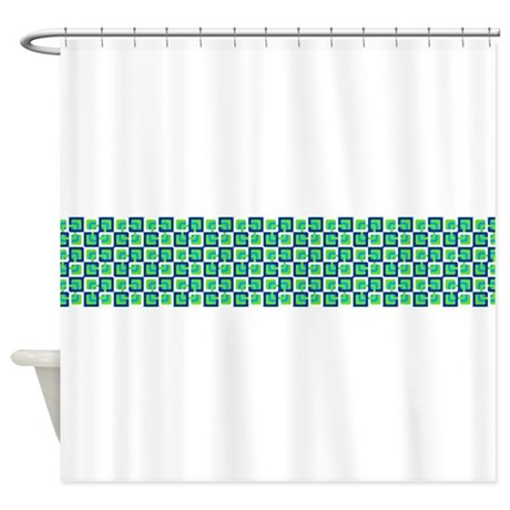 Circles in Squares Shower Curtain by DecorativeStuff