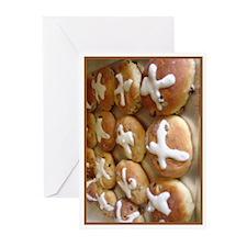 Hot Cross Buns Greeting Cards (Pk of 10)