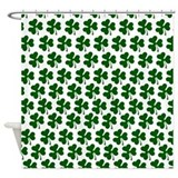 Irish Shamrock Pattern Shower Curtain
