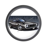 67 Black Camaro W Wall Clock