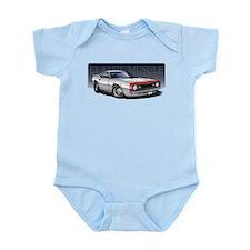 67 White R Infant Bodysuit