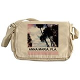 Pink palms Messenger Bag