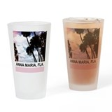 Pink palms Drinking Glass
