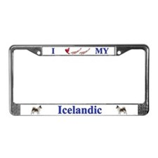 Icelandic Sheep Dog License Plate Frame