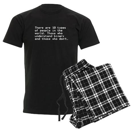 Funny, Binary Men's Dark Pajamas