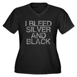 I Bleed Silver and Black, Aged, Women's Plus Size