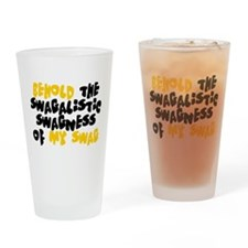 Swagness of Swag T-shirt Drinking Glass