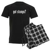 Stamp collecting Men's Pajamas Dark
