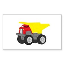 Yellow and Red Dump Truck Construction Vehicle Sti