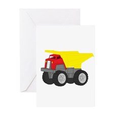 Yellow and Red Dump Truck Construction Vehicle Gre