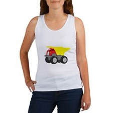 Yellow and Red Dump Truck Construction Vehicle Wom