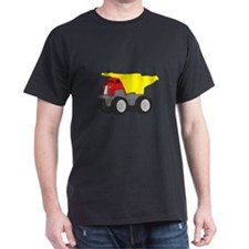 Yellow and Red Dump Truck Construction Vehicle Dar