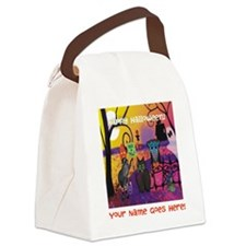 Storybook Halloween Canvas Lunch Bag