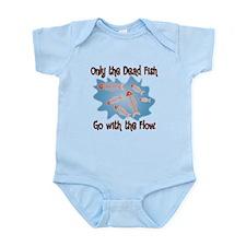 Dead Fish Go with the Flow Infant Bodysuit