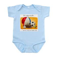 Stay-at-home dad: balls Infant Bodysuit