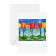 Grandest Visions Quote Greeting Card