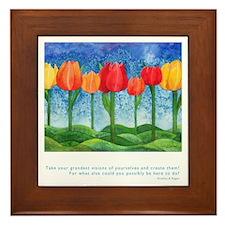 Grandest Visions Quote Framed Tile