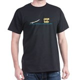 Swim Dad (boy) yellow suit Black T-Shirt