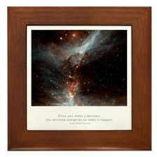 Universe Conspires Quote Framed Tile