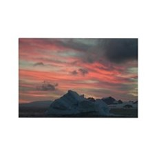 Antarctica Sunset 3 Rectangle Magnet (10 pack)