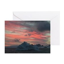 Antarctica Sunset 3 Greeting Cards (Pk of 10)