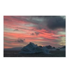 Antarctica Sunset 3 Postcards (Package of 8)