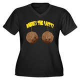 party nuts Women's Plus Size V-Neck Dark T-Shirt