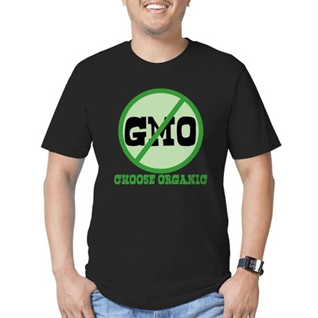 Say No to GMO Men's Fitted T-Shirt (dark)
