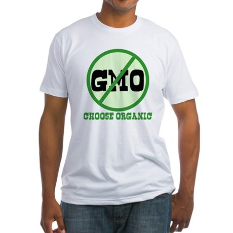 Say No to GMO Fitted T-Shirt