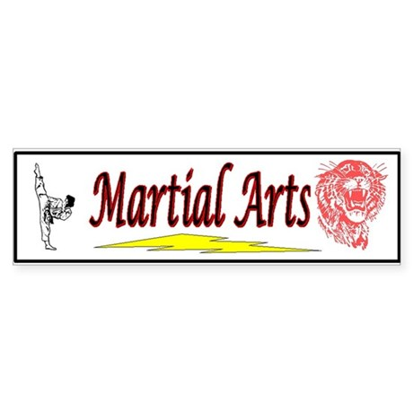 Tiger Martial Arts Bumper Sticker