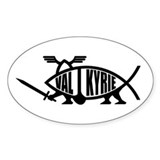 Valkyrie Fish Oval Decal