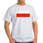 Poland Polish Blank Flag Ash Grey T-Shirt