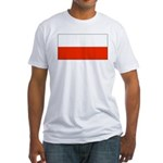 Poland Polish Blank Flag Fitted T-Shirt