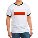 Poland Polish Blank Flag Ringer T