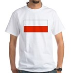 Poland Polish Blank Flag White T-Shirt