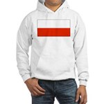 Poland Polish Blank Flag Hooded Sweatshirt
