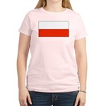 Poland Polish Blank Flag Women's Pink T-Shirt