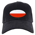 Poland Polish Blank Flag Black Hat