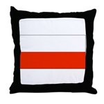 Poland Polish Blank Flag Throw Pillow