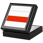 Poland Polish Blank Flag Keepsake Box
