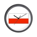 Poland Polish Blank Flag Wall Clock