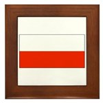 Poland Polish Blank Flag Framed Tile