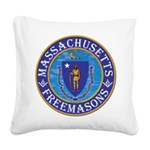 Massachusetts Masons Square Canvas Pillow