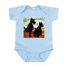A Scottie Christmas Infant Bodysuit