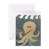 Swimming Octopus Greeting Card