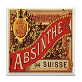 Absinthe Suisse Tile Coaster
