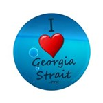 "I Heart Georgia Strait 3.5"" Button"