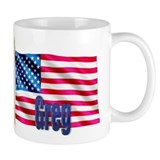 Greg Personalized USA Flag Mug